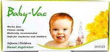 Baby-Vac Nasal Aspirator Medically recommended for Newborn Toddler Children kids