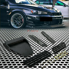 Fit for 08+Lancer EVO X/Ralliart /GTS Car Hood Bonnet Vent Duct Flat Matte Black