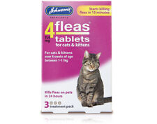 Johnsons 4FLEAS Tablets for Cats and Kittens 3 Tablet Pack Flea Treatment