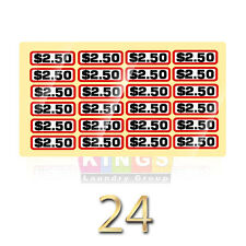 24PK GLOSSY  SLIDE DECAL $2.50 For GREENWALD Wascomat, Ipso, Huebsch, 00-9104-36