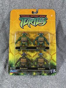 Playmates TMNT 4 Pack Teenage Mutant Ninja Turtles Miniatures 2002 SEALED!