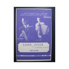 Sans Issue Valse Prud'homme Accordéon 1950 partition sheet music score