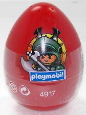 Huevo de Pascua rojo caballero con cornamenta casco Playmobil 4917 V.`05