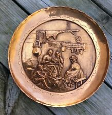 J Heichlinger Salbeist Bas Relief Copper Art Wall Plaque Plate Germany