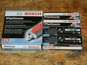 (8) NEW BOSCH 6722 PLATINUM SPARK PLUGS 0242236615OP6 FOR HUMMER CENTURY ASTRO