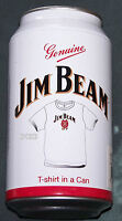 Jim Beam Mens White Printed Short Sleeve T Shirt In A Can Size L New