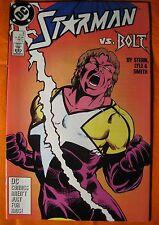 Starman Vs. Bolt #3 Near Mint NM (1988 DC Comic) Free Plastic Bag & White Board