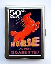 Horse Cigarette Case Wallet Business Card Holder retro Smoking