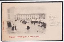 CASTEGGIO PAVIA PIAZZA CAVOUR IN TEMPO DI FIERA ANIMATA 1903 SUPER !