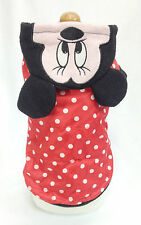 Cute Red Polka Dot Winter Jacket, Size S , Pet Dog & Cat Clothes, Costume