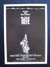 Filmplakatkarte cinema   Die Tiefe  Robert Shaw , Nick Nolte ; J.Bisset