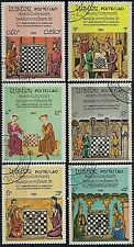 LAOS 1984 60th Anniversary of World Chess Federation Sport SET 6 STAMPS