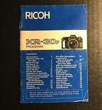 Vintage Ricoh KR-30sp Program 35mm Film SLR Camera - User Instruction Manual