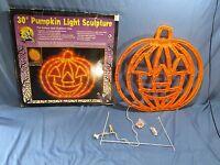 """30"""" Pumpkin Light Sculpture Lighted Halloween Outdoor Yard Decor. Fright Sights"""