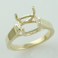 Cushion Shape Semi Mount Ring 8 MM Authentic Gold Anniversary Occasion Jewelry