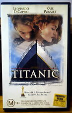 TITANIC Video 1997 * VHS Tape PAL RETRO EX RENTAL WITH STICKERS Large Case