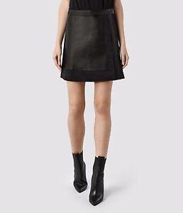 all saints melina leather skirt size uk 4 us 0 eu 32
