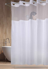 Hotel Quality WHITE MOLD RESISTANT Hookless Shower Curtain Liner 71 X 77