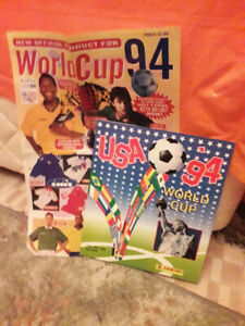 USA Football World Cup 94 Panini Soccer Sticker Book with replica leaflet/Pele!!