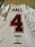 Deangelo Hall Autographed/Signed Jersey Beckett Atlanta Falcons Virginia Tech
