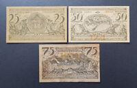 OBERAMMERGAU BAYERN NOTGELD 25, 50, 75 PFENNIG 1921 (8782)