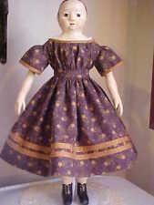 "New ListingAntique Repro Dark Plum Dress For 16-18"" Izannah Walker, China, Parian Doll"