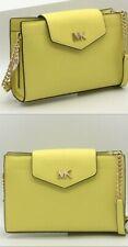 Michael Kors Mott Large Clutch Crossbody Handbag Sunshine Leather 35s0goxc7l