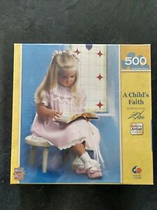 NEW! SEALED! A Child's Faith 500 Piece Puzzle Masterpieces Zolan