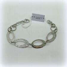 Bracciale Donna Fraboso argento 925 lucido diamantato e graffiato