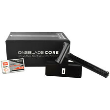 OneBlade Core Single Edge Razor & Aluminium Stand With Feather FHS-10 Blades