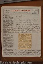 ✒ L.A.S. Léopold Szeszler Léo Poldès écrivain à Gaston PICARD amusante lettre