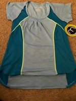 MOXIE Cycling size  M Emerald Lime Cadence Wrap Jersey Tee Athletic T Shirt