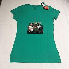 New Women's Paul Frank T-shirt, Green Size medium