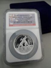 2010p australia $$1 Kangaroo-high Relief NGC graded Pf69 Ultra Cameo 1216044-189