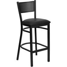 Flash Furniture Metal Restaurant Bar Stool, Black - XU-DG-60116-GRD-BAR-BLKV-GG