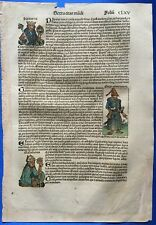 Altkoloriertes Blatt CLXV, Schedel Weltchronik 1493, Nürnberg, URSPRUNG TÜRKEN