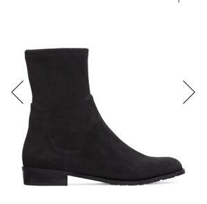 NEW NIB-Women's Stuart Weitzman Lilene Boot (Pull-on Chelsea) Black Suede size 9