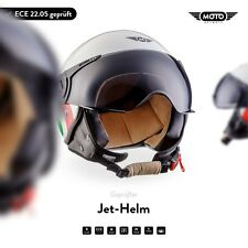 JET VESPA RETRO SCOOTER OPEN FACE Motorcycle - MOTO Helmet H44 Italy XS S M L XL