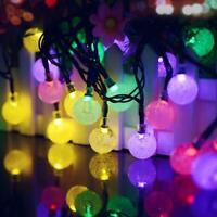 6m 30 LED Solar String Lights Christmas Home Outdoor Waterproof Fairy Light 2V