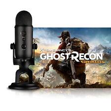 Apagón Yeti Micrófono Azul + Ghost Recon Tom Clancy Sazh PC