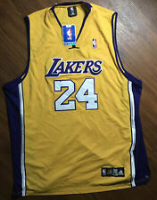 NWT Adidas Authentic NBA Los Angeles Lakers Kobe Bryant Throwback Jersey sz 60