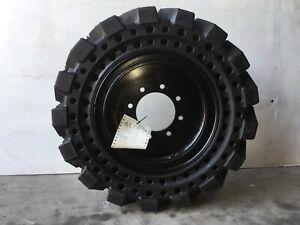 Flat proof Solid 30x10-16 Skidsteer Tyres & Rims Bobcat Cat Deere Gehl $$DROPPED