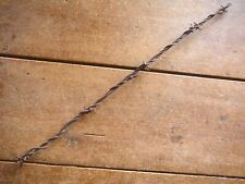 GLIDDEN TWO POINT PAIRED BARBS on 2 of 3 LINES - ANTIQUE BARB BARBED WIRE