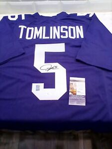 TCU Frogs LADANIAN TOMLINSON Autographed Signed Jersey JSA And Player Dual COA!!