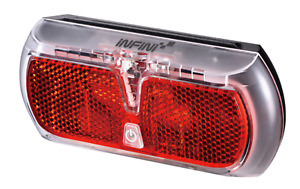 Infini Apollo rear carrier light, AA battery powered blk/red
