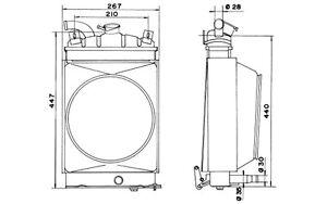 NRF Radiador, refrigeración del motor FIAT 600 52148
