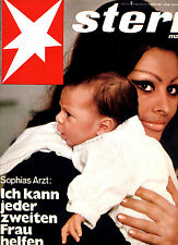 Magazin STERN  Nr 8 von 1969, Cover Sophia Loren mit Baby; Venedig muss sterben