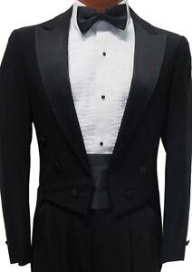 Black Tuxedo Tailcoat Damaged Cheap Mardi Gras Coat Theater Tails Discount Tux