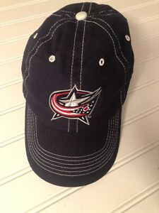 Halo COLUMBUS BLUE JACKETS Adjustable Hat Hook and Loop Back Square Promo EUC