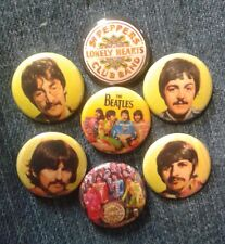 """1"""" pinback buttons inspired  by """"The Beatles Sgt. Pepper's Lonely Hearts Club"""""""